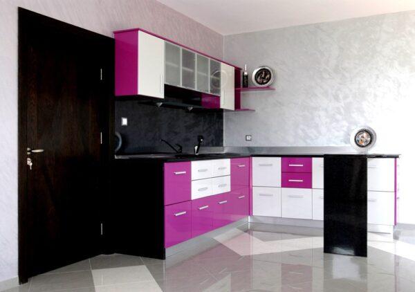 Кухня MDF с барплот