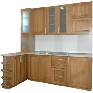 Кухня бук с витрина